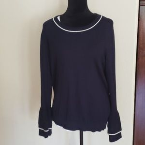Boden Bell Sleeve Navy Sweater size 18